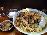 板橋富士丸麺半分アブラカラメブタ一枚生卵090107